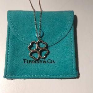 Tiffany & Co. 4 Heart Clover Pendant Necklace